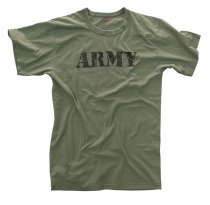 American T-Shirt VINTAGE ARMY OLIVE DRAB