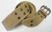 American Vintage belt with double buckle Khaki