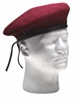 ULTRA FORCE G.I. STYLE WOOL MAROON BERET