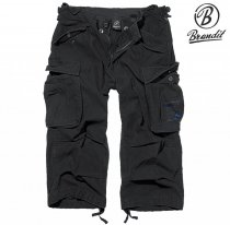 Brandit Industry 3/4 Vintage Shorts Black