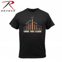 Rothco T-Shirt Svart CHOOSE YOUR CALIBER