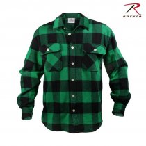 Rothco Flannel shirt Men - Green