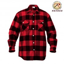 Rothco Flannel shirt Men - Red