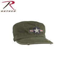 Vintage AIR FORCE STAR Military Cap OD