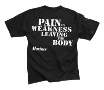 T-Shirt MARINES PAIN IS Weakness