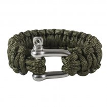 Paracord-armband-shackle-Grön
