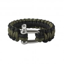 Rothco Paracord Armband D-Shackle Black/Green