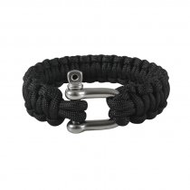 Paracord-Armband-Svart-Shackle