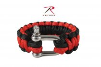 Rothco Paracord Armband D-Shackle Black/Red