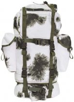 combat back pack, big, BW wintercamo