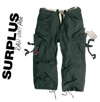 Surplus Vintage Engineer Short 3/4 style - Black