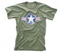 Amerikansk T-Shirt Vintage ARMY AIR CORP OD