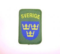 Swedish Military Patch with Velcro Sverige