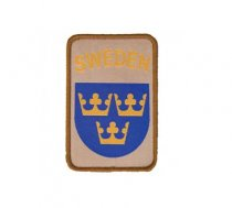 Swedish Military Patch with Velcro in the Sand SWEDEN