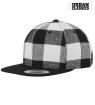 Urban Classics Flannel Cap with Snapback - White