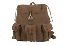 VINTAGE Wayfarer Backpack / Bag in Brown Canvas