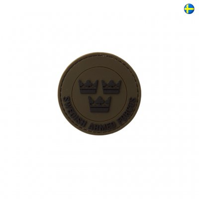 3D PVC Patch Swedish Armed Forces - Army Green