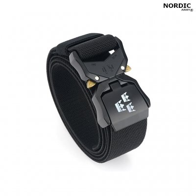 Nordic Army® Tactical Stretch bälte 3 kronor - Svart