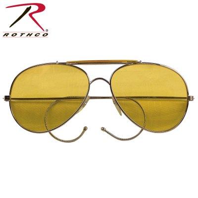 US AIR FORCE PILOTGLASÖGON GUL - Pilotglasögon brillor - Glasögon ... 674d48479660d