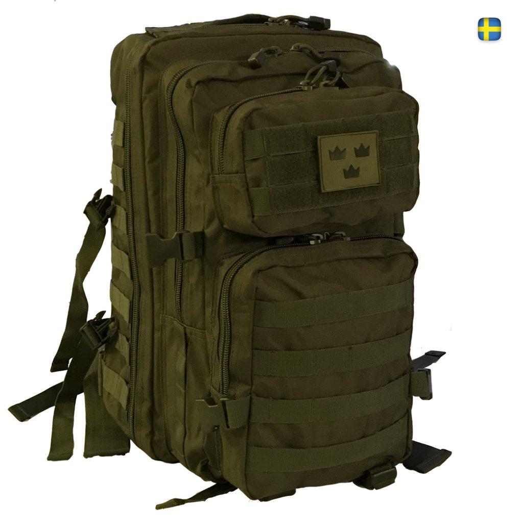 Army Gross Assault ryggsäck 50L Tre Kronor - Grön 46a889db1d239
